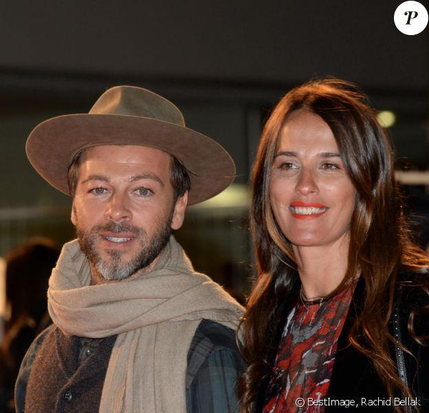 """Christophe Maé et sa compagne Nadège Sarron lors de la 18ème cérémonie des """"NRJ Music Awards"""" au Palais des Festivals à Cannes, le 12 novembre 2016. © Rachid Bellak/Bestimage"""