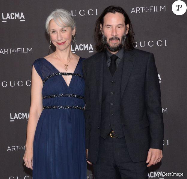 """Keanu Reeves et sa compagne Alexandra Grant à la soirée """"2019 LACMA Art + Film Gala"""" au Los Angeles County Museum of Art. Los Angeles, le 2 novembre 2019."""