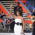 "Whitney Houston dans ""X Factor Italy"" à Milan, en 2009."