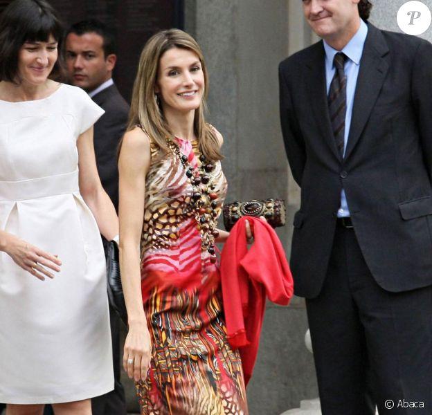 Letizia d'Espagne et Felipe président le prix Velasquez 2009, à Madrid.