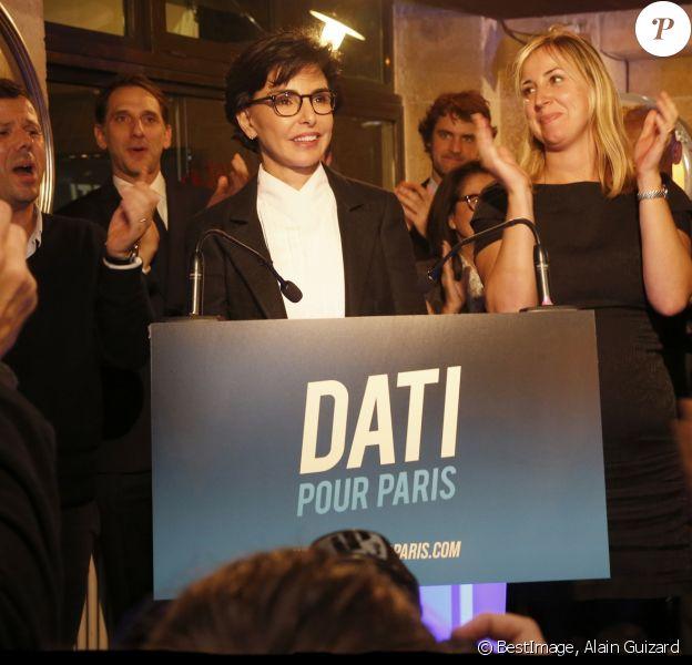 """Rachida Dati lance officiellement sa campagne pour les élections municipales de Paris 2020 au restaurant """"L'ami Justin"""". Paris, le 7 novembre 2019. © Alain Guizard/Bestimage"""