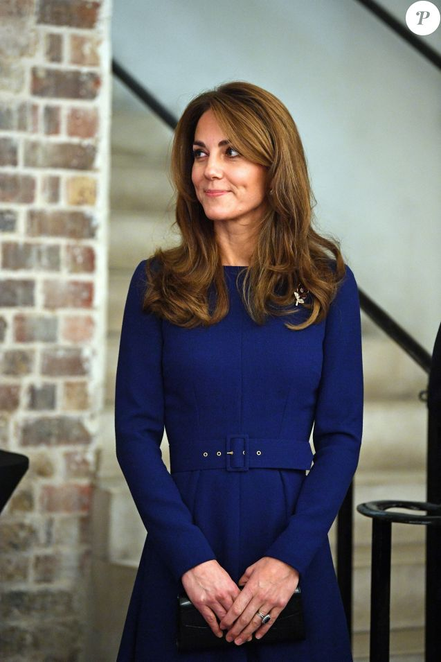 """Le prince William, duc de Cambridge, et Kate Middleton, duchesse de Cambridge, assistent au lancement de l'association caritative """"National Emergencies Trust"""" à l'Eglise St Martin-in-the-Fields à Londres, le 7 novembre 2019."""