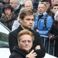 David Van der Poel (petit-fils du défunt) - Obsèques de Raymond Poulidor en l'église de Saint-Léonard-de-Noblat. Le 19 novembre 2019 © Patrick Bernard / Bestimage