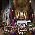 Obsèques de Raymond Poulidor à l'église de Saint-Léonard-de-Noblat, le 19 novembre 2019.