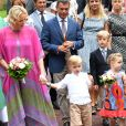 La Princesse Charlene de Monaco, le prince héréditaire Jacques, la princesse Gabriella et le prince Albert II de Monaco durant le traditionnel Pique-nique des monégasques au parc princesse Antoinette à Monaco le 6 septembre 2019. © Bruno Bebert / PRM / Bestimage