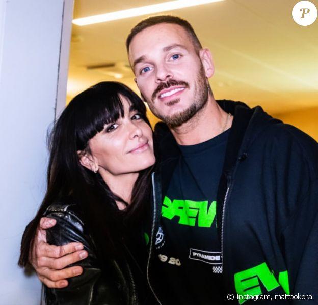 M. Pokora avec Jenifer dans les coulisses de son concert à l'AccorHotels Arena, à Paris, le 26 novembre 2019.