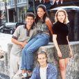 James Van Der Beek, Michelle Williams, Katie Holmes et Joshua Jackson. Los Angeles, 1998. © ABACA