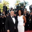 """Luc Besson et sa femme Virginie Silla à la montée des marches du film """"The Last Face"""" lors du 69ème Festival International du Film de Cannes le 20 mai 2016. ©"""
