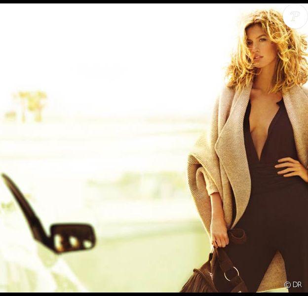 Gisele Bündchen, superbement glamour, pour la nouvelle campagne Stefanel !