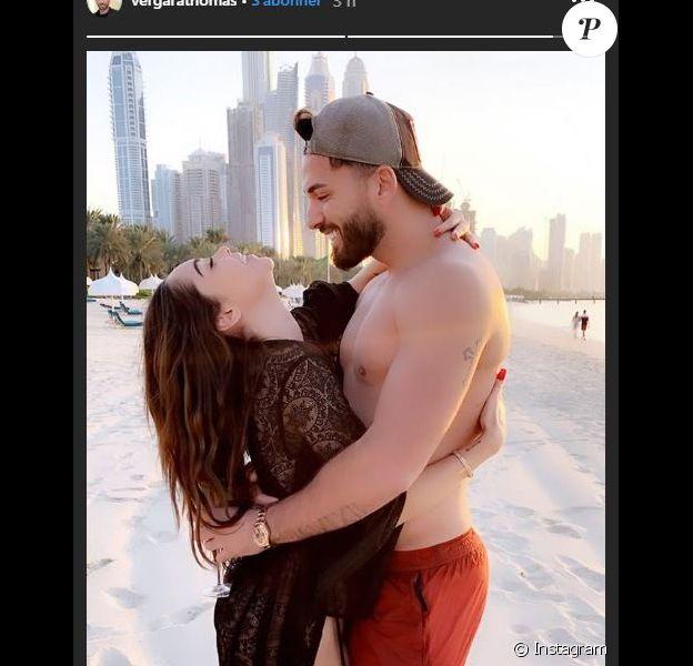 Thomas partage une photo avec Nabilla à Dubaï le 29 novembre 2019.