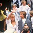 Archives- Mariage de David Hallyday et Estelle Lefébure, le 15 septembre 1989.