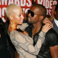 Amber Rose et Kanye West aux MTV Video Music Awards 2009 à New York. Septembre 2009.