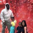 Kanye West, Kim Kardashian et leurs enfants North et Saint West au Japon. Août 2019.
