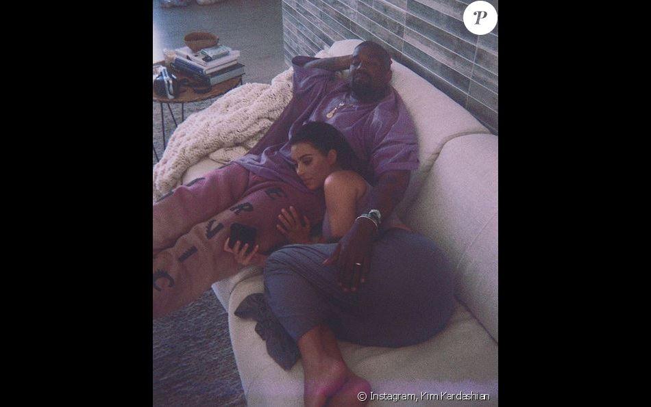 Kanye West et Kim Kardashian. Juin 2019.