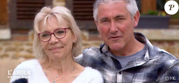 """Christine et Jean-Michel - """"L'amour est dans le pré 2019"""", le 11 novembre 2019."""