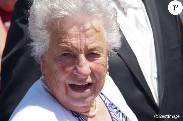 Exclusif - Carman, la maman de Thierry - Mariage de Véronique et Thierry (L'amour est dans le pré, saison 9) à Valençay. Parmi les invités figuraient les anciens participants de l'émission. Le 23 mai 2015.