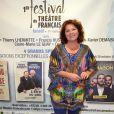 Exclusif - Véronique Genest lors du premier festival de théâtre français en Israël au théâtre Beit Ha Khayal à Tel Aviv le 22 octobre 2017. © Erez Lichtfeld / Bestimage