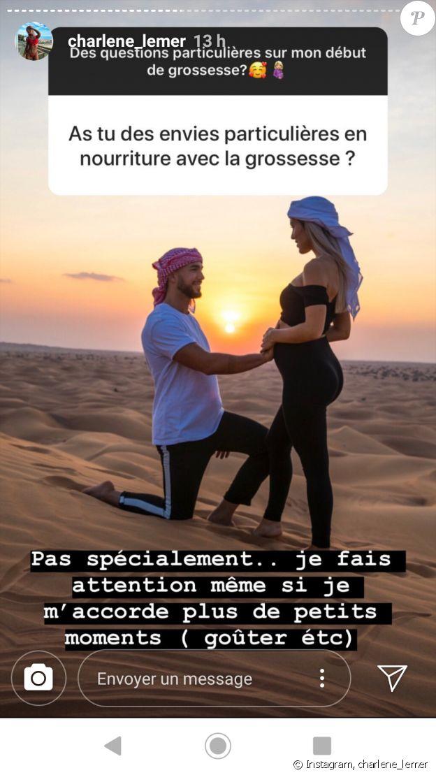 """Charlène de """"Secret Story"""", enceinte, répond aux questions sur sa grossesse, sur Instagram, le 4 décembre 2019"""