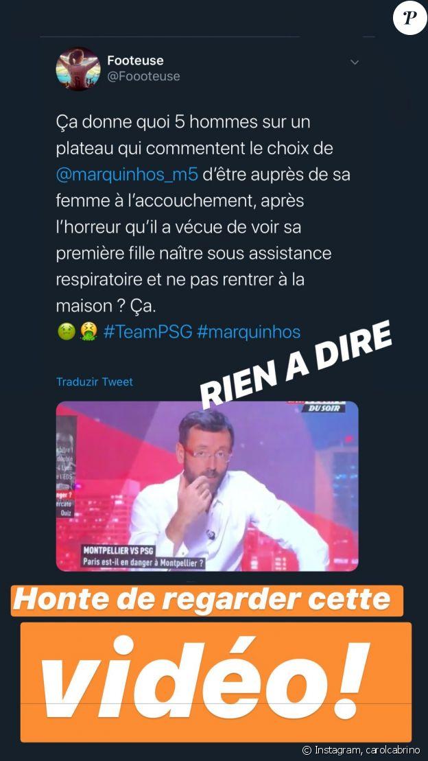 """Carol Cabrino, Marquinhos, indignée après les propos tenus par Guy Roux dans """"L'Equipe du soir"""" le 6 décembre 2019."""