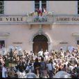 Alexandra Lamy et Jean Dujardin se sont unis le 25 juillet 2009, à la mairie d'Anduze, dans les Cévennes.