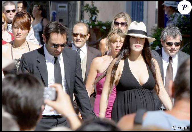 Gilles lellouche et m lanie doutey enceinte au mariage d for Jean dujardin famille
