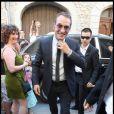 Jean Dujardin à son mariage, le 25 juillet 2009.