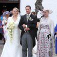 Le prince Christian de Schaumburg-Lippe a épousé Lena, près de Hambourg, le 25 juillet 2009
