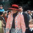 Diana et son fils le prince William - Messe de Noël à Sandringham, 1990.