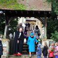 La reine Elizabeth à la messe de Noël de Sandringham en 2012.