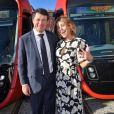 Christian Estrosi, le maire de Nice, et sa femme Laura Tenoudji Estrosi participent à l'inauguration de la ligne 2 du tramway sur le quai Napoléon 1er, à Nice le 14 décembre 2019. © Bruno Bebert / Bestimage