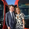 Christian Estrosi, le maire de Nice, et sa femme Laura Tenoudji Estrosi durant l'inauguration de la ligne 2 du tramway sur le quai Napoléon 1er, à Nice le 14 décembre 2019. © Bruno Bebert / Bestimage