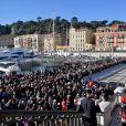 L'inauguration de la ligne 2 du tramway sur le quai Napoléon 1er, à Nice le 14 décembre 2019. © Bruno Bebert / Bestimage