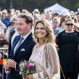 La princesse Madeleine de Suède et son mari Christopher O'Neill lors du 41e anniversaire de la princesse Victoria à Borgholm en Suède le 14 juillet 2018.