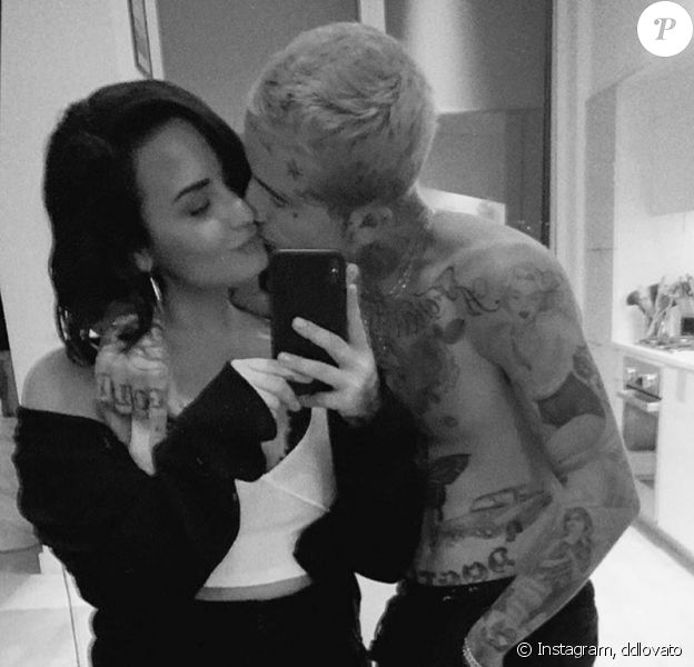 Demi Lovato officialise avec Austin Wilson, son nouveau compagnon, sur Instagram. Le 13 novembre 2019.