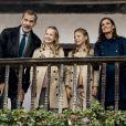 Le roi Felipe VI d'Espagne, la reine Letizia, la princesse Leonor des Asturies et l'infante Sofia ont adressé leurs voeux - illustrés par une photo de leur visite officielle en principauté des Asturies en octobre 2019 - à leurs compatriotes la reine Letizia pour les fêtes de fin d'année 2019 et la nouvelle année 2020.