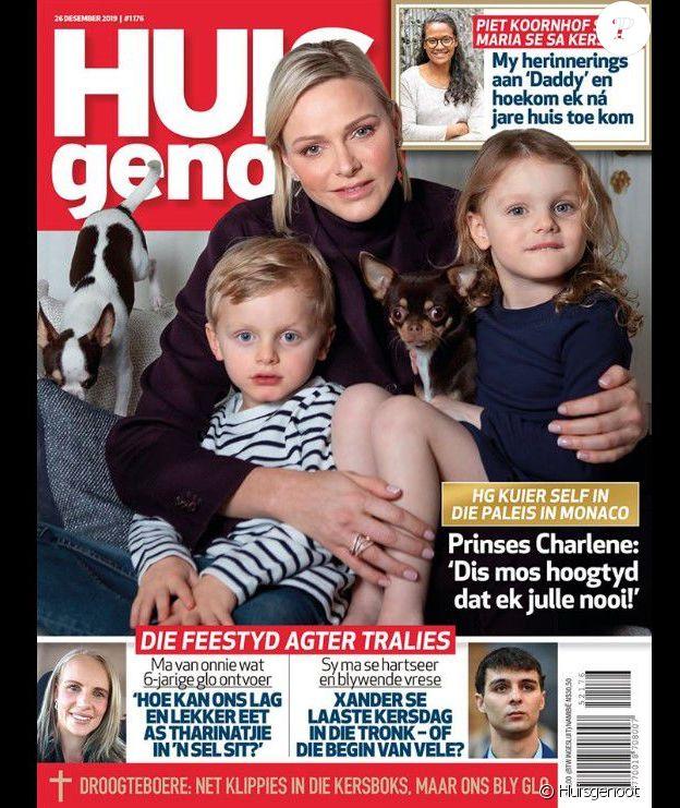 """Une du magazine sud africain """"Huisgenoot"""", parue le 26 décembre 2019."""