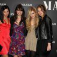 Leigh Lezark, Daisy Lowe, Riley Keough, Marie-Ange Casta, lors d'une soirée Mango