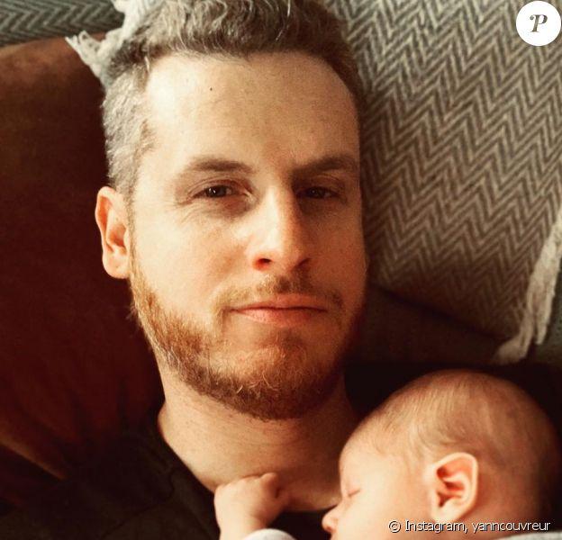 Yann Couvreur pose avec son bébé sur Instagram, le 2 janvier 2020.