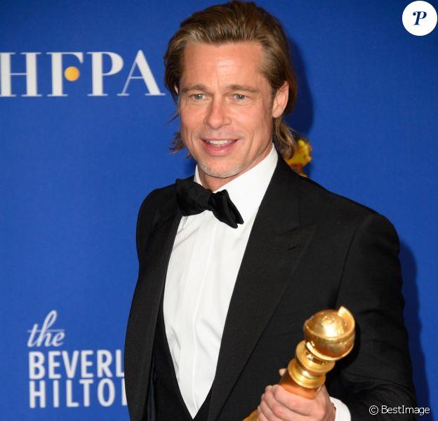 Brad Pitt - Pressroom de la 77e cérémonie annuelle des Golden Globe Awards au Beverly Hilton Hotel à Los Angeles, le 5 janvier 2020.