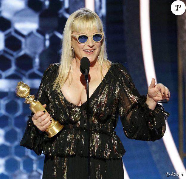 Patricia Arquette lors de la 77ème cérémonie annuelle des Golden Globe Awards à l'hôtel Beverly Hilton à Los Angeles, Californie, Etats-Unis, le 5 janvier 2020.