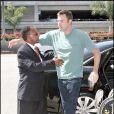 Ben Affleck va prendre l'avion à l'aéroport de Lax, Los Angeles le 26 juillet 2009