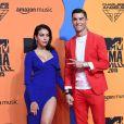 Georgina Rodriguez et son compagnon Cristiano Ronaldo à la soirée MTV European Music Awards 2019 (MTV EMA's) au FIBES Conference and Exhibition Centre à Séville en Espagne, le 3 novembre 2019.