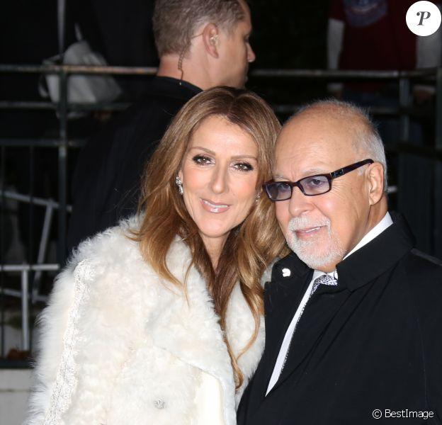 """Celine Dion et son mari Rene Angelil arrivent a l'enregistrement de l'emission """"Vivement dimanche"""" au studio Gabriel a Paris le 13 novembre 2013. L'emission sera diffusee le 17 novembre."""