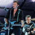 """Exclusif - David Hallyday - Johnny Hallyday en duo pour son 2eme concert de la tournee """"Born Rocker Tour"""" au POPB de Bercy a Paris. Le 15 juin 2013."""