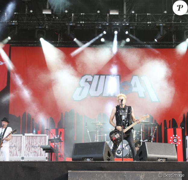 Jour 3 - Sum 41 - Festival Rock en Seine au Domaine Nationale de Saint-Cloud à Paris, le 28 août 2016. © Lise Tuillier/Bestimage