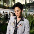 G-Dragon assiste au deuxième défilé Chanel, collection Haute Couture printemps-été 2020, au Grand Palais. Paris, le 21 janvier 2020.
