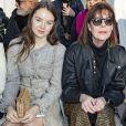 Caroline de Monaco et sa fille Alexandra de Hanovre assistent au deuxième défilé Chanel, collection Haute Couture printemps-été 2020 au Grand Palais. Paris, le 21 janvier 2020.