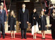 Felipe et Letizia d'Espagne : Leonor et Sofia appliquées avec eux au Parlement