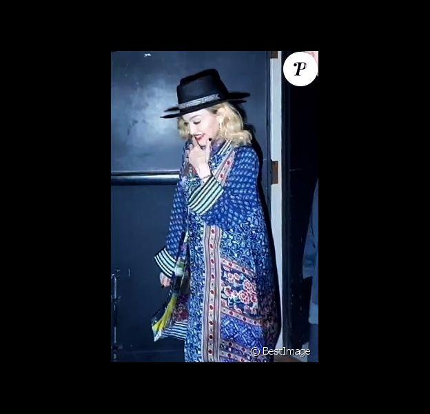 Madonna à la sortie de son spectacle avec Ahlamalik Williams à New York, le 18 septembre 2019