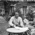 Archives -En France, rendez-vous avec Claude Brasseur et l'écrivain Christopher Frank. Le 17 juillet 1981 © Bernard Leguay via Bestimage